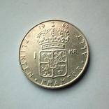 Швеция 1 крона 1964 г. - серебро, фото №5