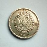 Швеция 1 крона 1942 г. - серебро, фото №6