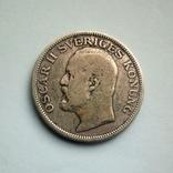 Швеция 1 крона 1907 г. - Оскар II - серебро, фото №5
