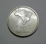 Бразилия, 20 крузейро, 1972 - 150 лет НЕЗАВИСИМОСТИ - серебро, фото №2