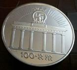 100 рейхсмарок  1933 року Німеччина.Копія пробної. . /посрібнення 999/, фото №3