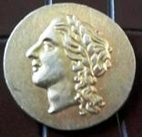 Давня Греція Осеон Спак- копія золотої,  не магнітна, позолота 999., фото №2