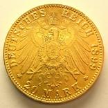 Гамбург 20 марок 1899 г., фото №4