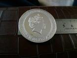 1 долар  2017 року Австралія /репліка/ копія посрібнення 999.  магнітна, дзвенить, фото №3