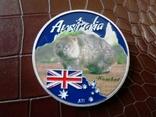 1 долар  2017 року Австралія /репліка/ копія посрібнення 999.  магнітна, дзвенить, фото №2
