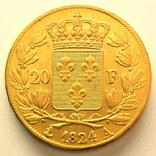 Франция 20 франков 1824 г., фото №3
