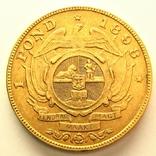 ЮАР фунт 1898 г., фото №3