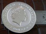 1 долар  2015 року Австралія /репліка/ копія посрібнення 999.  магнітна, дзвенить, фото №4