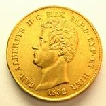 Сардиния 20 лир 1832 г., фото №2