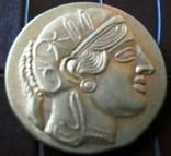 Греція Афіни копія золотої /позолота 999/ - не магнітна, фото №3