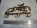 Одёжная вешалка Скачки латунь, фото №2