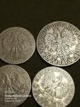 5 і 10 злотих ,Польща,срібло,1932,33,34., фото №5