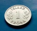 Исландия 1 крона, фото №2