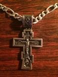 Крест серебро 925 пробы, фото №2