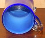 Кувшин-ваза толстое стекло кобальт, фото №8