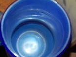 Кувшин-ваза толстое стекло кобальт, фото №9