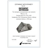Заготовка-вставка з метеорита Seymchan, 3,4 г, із сертифікатом автентичності, фото №3