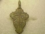Крест большой , листик с остатками эмали, фото №3