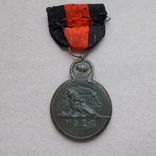 Бельгия 1918 г. Медаль. За битву на реке Изер 1914 г., фото №4