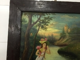 Картина. Девушка на лотке, фото №3