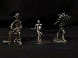 Фигурки людей серебро 800 3 шт., фото №2