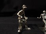 Фигурки людей серебро 800 3 шт., фото №4