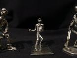 Фигурки людей серебро 800 3 шт., фото №5