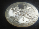 Норвегия 1 Экю Древние Корабли Европы Корабль Викингов Флот парусник серебро, фото №3