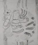 "Л.Ястреб ""Монументальный эскиз"",б.карандаш,31х21см,1970-е гг., фото №5"