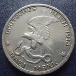3 марки 1913 100-летие битвы народов при Лейпциге  серебро  (3.3.4), фото №5