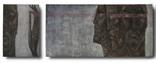 """Картина """"Волхв"""", диптих, холст, масло, 130х370см, фото №2"""