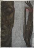 """Картина """"Волхв"""", диптих, холст, масло, 130х370см, фото №4"""