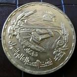 5  фунтів золотом 1956 року. Єгипет Асуанська плотина на Нилі..  /репліка/ позолота 999., фото №2
