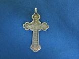 Крестик серебро 84 пробы., фото №3