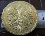 100 б.а. 1928 року Албанія-копія золотої., фото №3
