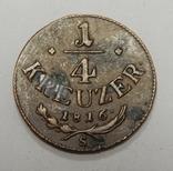 1/4 крейцера, 1816 S Австрия, фото №2