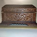 Шкатулка  деревянная, резная., фото №2