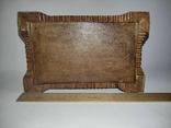 Шкатулка  деревянная, резная., фото №5