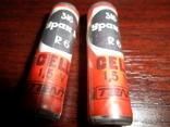 2 шт  батарейки Уран М  R6 Gell  год выпуска 02.1986  made in USSR  --внимание РАБОЧИЕ, фото №2
