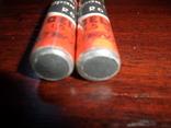 2 шт  батарейки Уран М  R6 Gell  год выпуска 02.1986  made in USSR  --внимание РАБОЧИЕ, фото №8