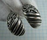 Серебряные Серьги Сережки Цветы Английская Застежка 925 проба Серебро 079
