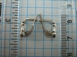 Серебряные Серьги Сережки Детский Мишки Английская Застежка 925 проба Серебро 084 фото 5