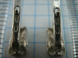Серебряные Серьги Сережки Детский Мишки Английская Застежка 925 проба Серебро 084 фото 7