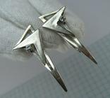 Серебряные Серьги Сережки Камни Английская Застежка Длинные 925 проба Серебро 087