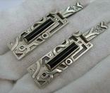 Серебряные Серьги Сережки Камни Английская Застежка Длинные 925 проба Серебро 040