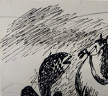"Одесса,А.Бокатов""Без названия"",б.тушь,8,8х10,7см,1981г.подпись, фото №4"
