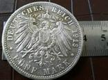 5 МАРОК 1913 року F Вюртенберг/НІМЕЧЧИНА / копія , не магнітна , посрібнення 999, фото №3