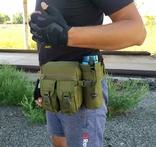 Универсальная тактическая сумка на пояс с карманом под бутылку (Олива), фото №5