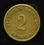 Германия 2 пфеннига 1875, фото №2
