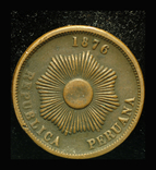 Перу 2 сентаво 1876, фото №3
